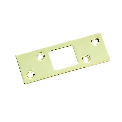 Polished Brass Security Door Striker Plate