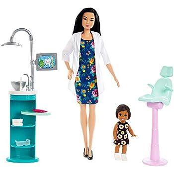 Amazon Com Barbie Dentist Doll Amp Playset Toys Amp Games