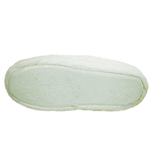 QPLUS Q-Plus Womens Slippers Warm Indoor Bedroom Washable Anti-Slip Indoor Slippers White 88aF7tZ