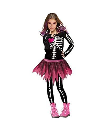 Disfraz Esqueleto Rosa Moderna para niña (7-9 años)