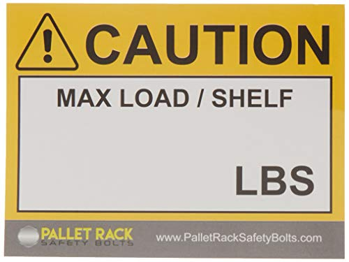 (25) Warehouse Rack Labels, Pallet Rack Cross Beam Capacity Industrial Stickers for Warehouse Safety