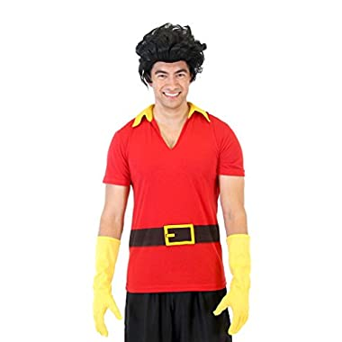 Beauty And The Beast Gaston Shirt Gloves and Wig (Adult Large/X-Large)