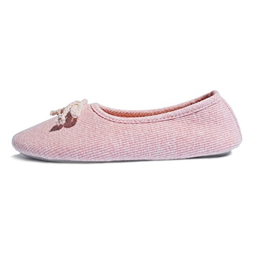 Thgonwid Comfortable Elastic Knitted Cotton Warm House Slippers Indoor Shoes Pink UnSO2FNthp