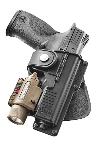 Fobus RBT17 Tactical Holster for Glock 17, 22, 31, Smith & Wesson M&P 9mm, .40 & .45, M&P Pro 9mm & .40 / Light or Laser Required, Right Hand Paddle (Smith And Wesson M&p 40 Pro Series Review)