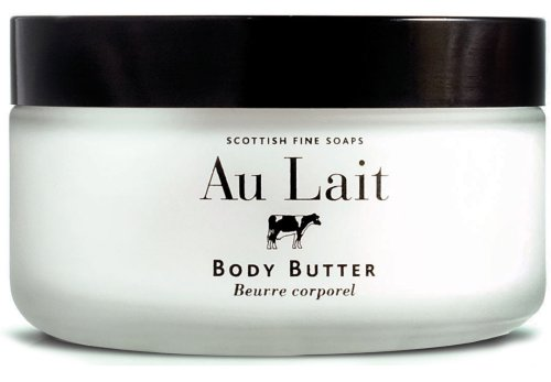 scottish fine soaps au lait body butter 7 oz in glass jar from scotland scottish fine soaps. Black Bedroom Furniture Sets. Home Design Ideas