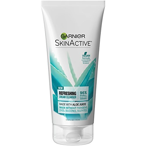 Soothing Cleansing Face Cream - Garnier SkinActive Cream Face Wash with Aloe Juice, Dry Skin,  5.75 fl. oz.