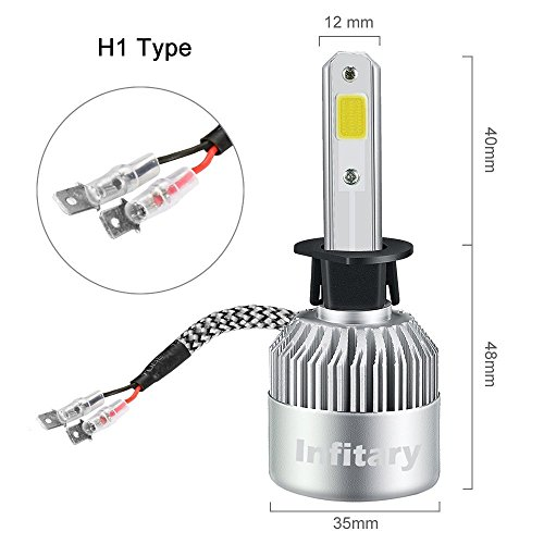 Infitary-LED-Headlight-Bulbs-HiLo-beam-Auto-headlamp-Dual-Beam-Head-Light-72W-6500K-8000LM-Extremely-Super-Bright-COB-Chips-Conversion-Kit-for-Car-1-Pair-1-Year-Warranty