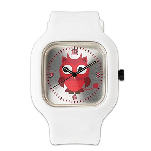 White Fashion Sport Watch Little Spooky Owl Devil (Baphomet Horns Costume)
