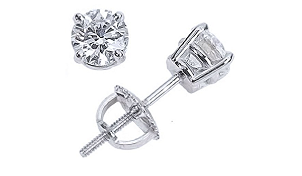 2.25 CT Stud Diamond EarringFor Men and Women Round Man Made 14k One Earring
