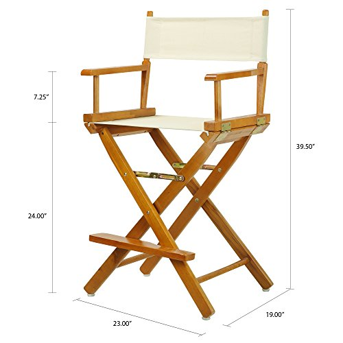 Marvelous Casual Home 24 Directors Chair Honey Oak Frame With Wheat Canvas Counter Height Spiritservingveterans Wood Chair Design Ideas Spiritservingveteransorg