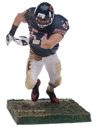 McFarlane Toys NFL Sports Picks Series 9 Action Figure Brian Urlacher (Chicago Bears) Blue Jersey White Pants by McFarlane - Jersey Urlacher Brian Bears