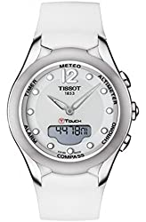 Tissot T-Touch Solar White Dial White Rubber Ladies Watch T0752201701700