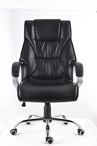 22' Chair (MCombo 6155-3075 Exacme High Back Leather Office Chair with Metal Base)