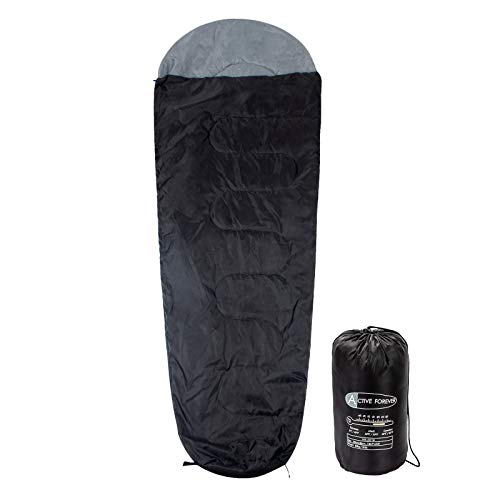 Display4top Premium Lightweight Mummy Sleeping Bag with Compression Sack – Portable, Waterproof,Comfort – Great for Outdoor Camping, Backpacking & Hiking (Black)