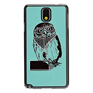 SHOUJIKE Petals Owl Decal Pattern Mirror Smooth Back Hard Case for Samsung Galaxy Note3 N9000