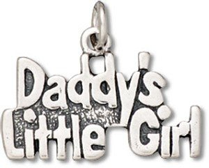 Sterling Silver Daddy's Little Girl Charm with Split Ring Item #40402