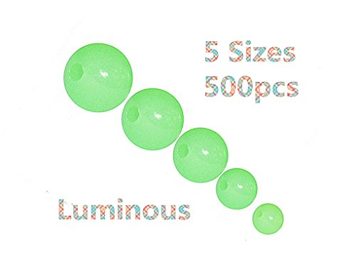 (Toasis Luminous Glow Fishing Beads 5 Sizes 500pcs)