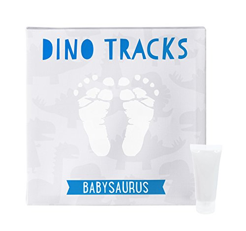 (Pearhead Babyprints Baby Handprint or Footprint Keepsake Wall Canvas and Paint Kit, Blue and Gray)