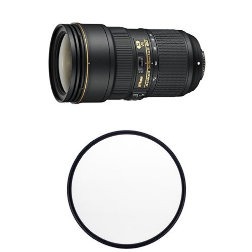Nikon AF-S FX NIKKOR 24-70mm f/2.8E ED VR Zoom Lens with Auto Focus for Nikon DSLR Cameras w/ B+W 82mm Clear UV Haze with Multi-Resistant Coating
