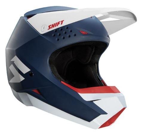 [해외] Shift 시프트 WHITE LABEL HELMET 2018모델 오프로드 헬멧 매트 네이비 XXL(63~64cm)