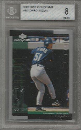 2001 Upper Deck MVP Baseball Ichiro Suzuki Rookie Card # 60 BGS 8 Near -