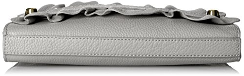 Astor Ruffle Grey Zip Clutch Top MILLY 8TwqBA