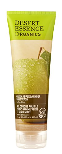 - Desert Essence Body Wash, Green Apple and Ginger, 8 Fluid Ounce