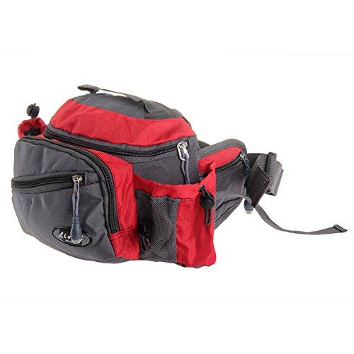 Multifunktions Nylon Gürteltasche Taillen Tasche Hüftgeldbeutel Gürteltasche Beutel für Angeln Radfahren Wandern Camping Laufen Klettern