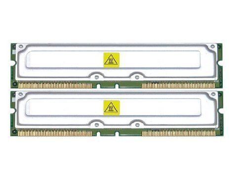 1GB 2 x 512MB PC800-40 RDRAM DELL 8200 RAMBUS RAM (MAJOR BRANDS) ()