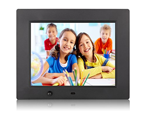 DuaFire 8 inch Digital Photo Frame with Motion Sensor for Music, Video(1080P/720P) Player, Calendar, Time and Ebook (Pic Wireless Controller)