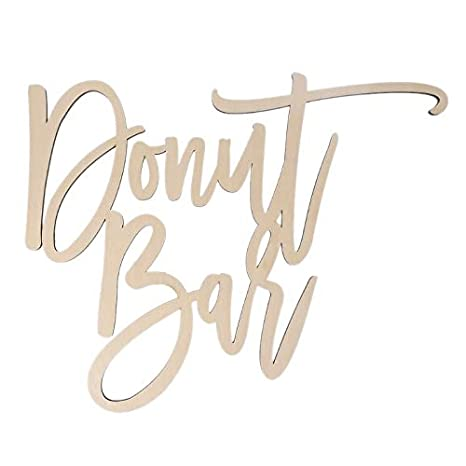 Party Diy Decorations - Exquisite Donut Bar Natural Wooden Sign