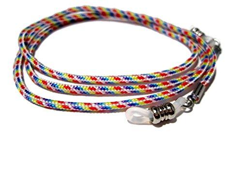 (ATLanyards Rainbow Paracord Eyeglass Chain, Eyeglass Lanyard, Glasses Holder, Clear Grips 330)