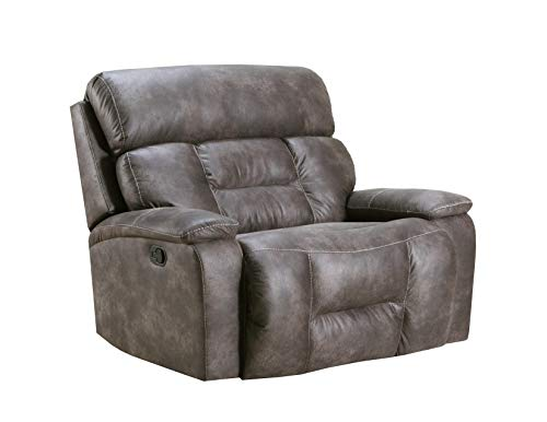 Lane Home Furnishings 50755BR-195 Dorado Charcoal CUDDLER RECLINER, grey
