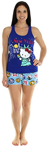 Hello Kitty Addicted to Travel New York Short Set - Large
