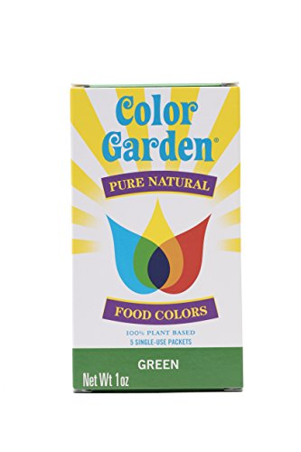 Color Garden Pure Natural Food Colors, Green 5 ct. 1 oz.