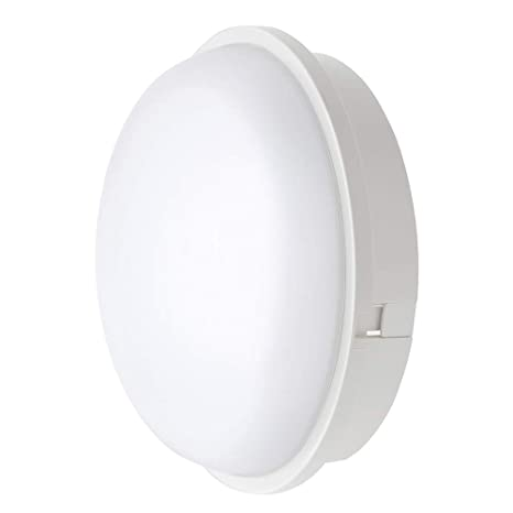 Lámpara LED para Pared y Techo Luz Nocturna LED Circular 20W 3000K IP65 de Luz Suave para Interiores Exteriores Corredor Baño Jardín Taller