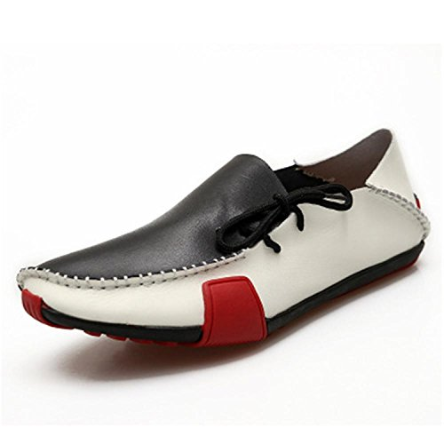 Esthesis Hommes Chaussures en Cuir Mocassins Mocassins Chaussures Conduire des Chaussures en Cuir Véritable Blanc F6mYrI4