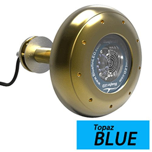 - Bluefin LED Stingray S20 Thru-Hull Underwater LED Light - 9000 Lumens - Topaz Blue Marine , Boating Equipment