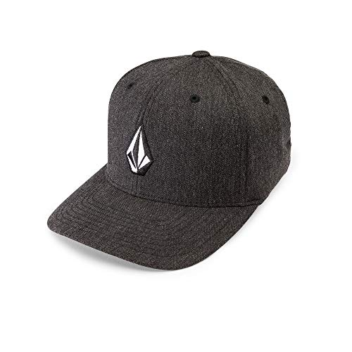 Hat Flex Cap (Volcom Men's Full Stone Heather Flexfit Stretch Twill Hat,Charcoal Heather,Large/X-Large standard)