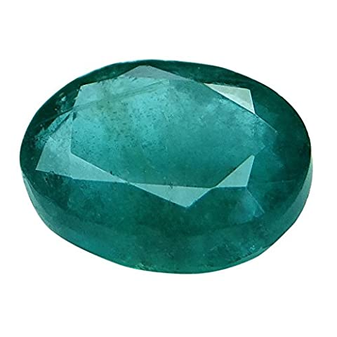 ARIHANT GEMS & JEWELS Adult 3.45 Ct. / 3.83 Ratti Emerald (Panna) Birthstone - Platinum Mobile Square
