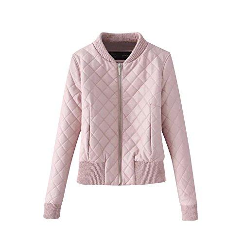 Faux En Femmes Pink Pour Motard Mesdames Veste Cuir wxgTSC4q