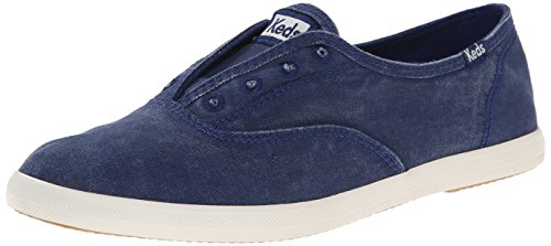 Keds Women's Chillax Washed Laceless Slip-On Sneaker, Navy, 7 M US ()