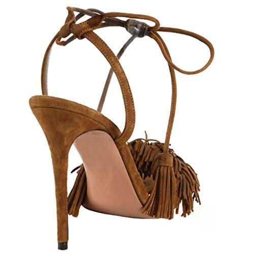 Jushee - talón abierto mujer Marrón - marrón