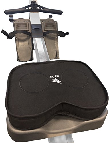 Rowing Machine Seat Cushion (MODEL A) that perfectly fits Concept 2 with Thick Dual Density Memory Foam and Washable Cover