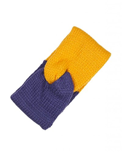 Game Day (College Pro High School Team) Head Wrap Ear Warmer - Purple & Gold (Head Referee Costume)
