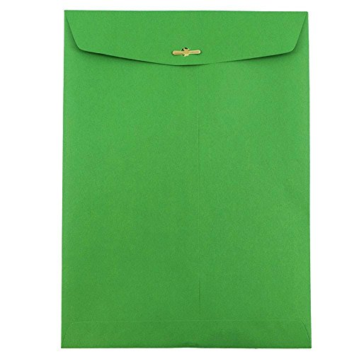 Yellow Recycled JAM PAPER 9 x 12 Booklet Colored Envelopes 100//Pack