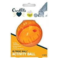 OurPets IQ Treat Ball Interactive Food Dispensing Dog Toy (Colors May Vary)