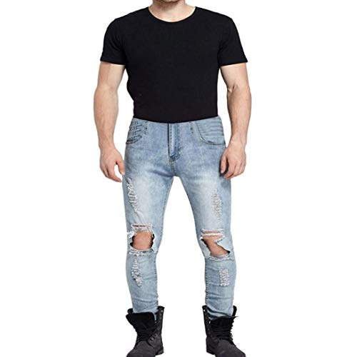 Fashion De Desgastados Blau De Pantalones Skinny Pantalones Pantalones Los Pantalones Lannister Desmontado Largo Vaqueros Casuales Mezclilla Vaqueros Hombres Vintage Mezclilla De Vaqueros Pantalones De dnw7dqgO