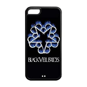 Diy iphone 5 5s case ROBIN YAM Black Veil Brides Hard Rubber Coated Phone Cover Case for iPhone 5 5S -CRY247