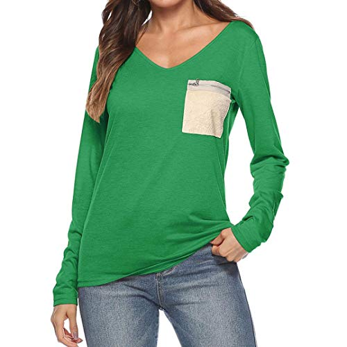 Longues toiles Femme Green Cape Chemisier Manches KaloryWee wI0vq